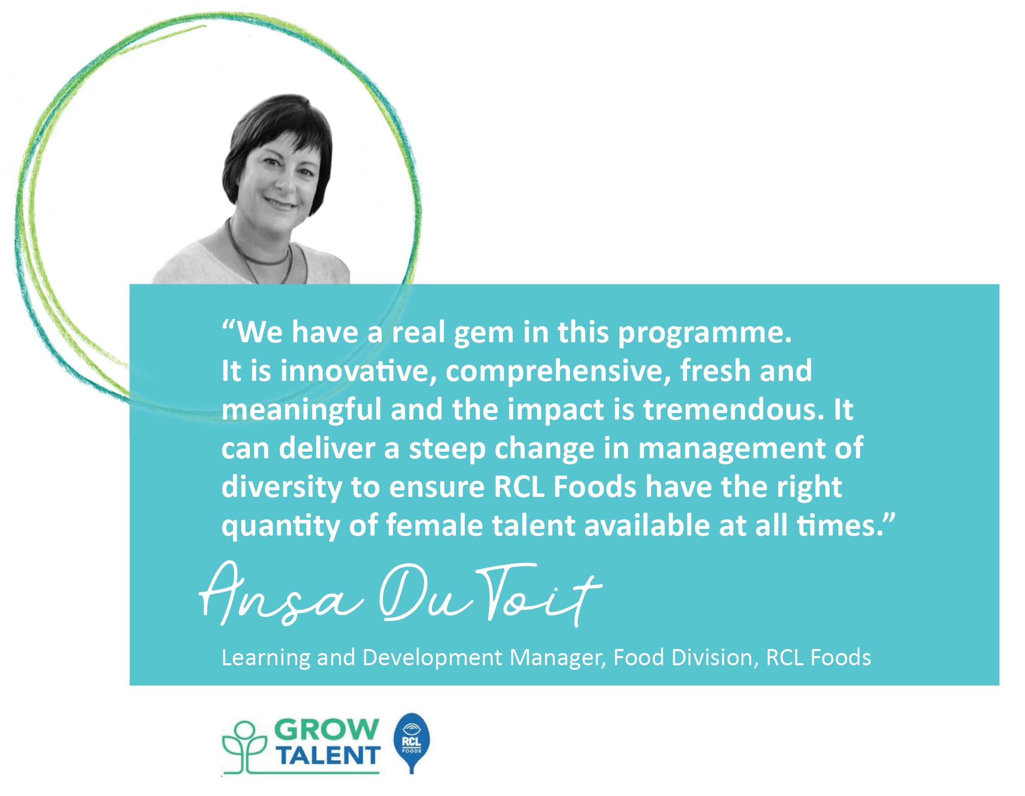 Free To Grow, Womens' Development, Shine!, empowering women leaders, RCL Foods, Ansa du Toit