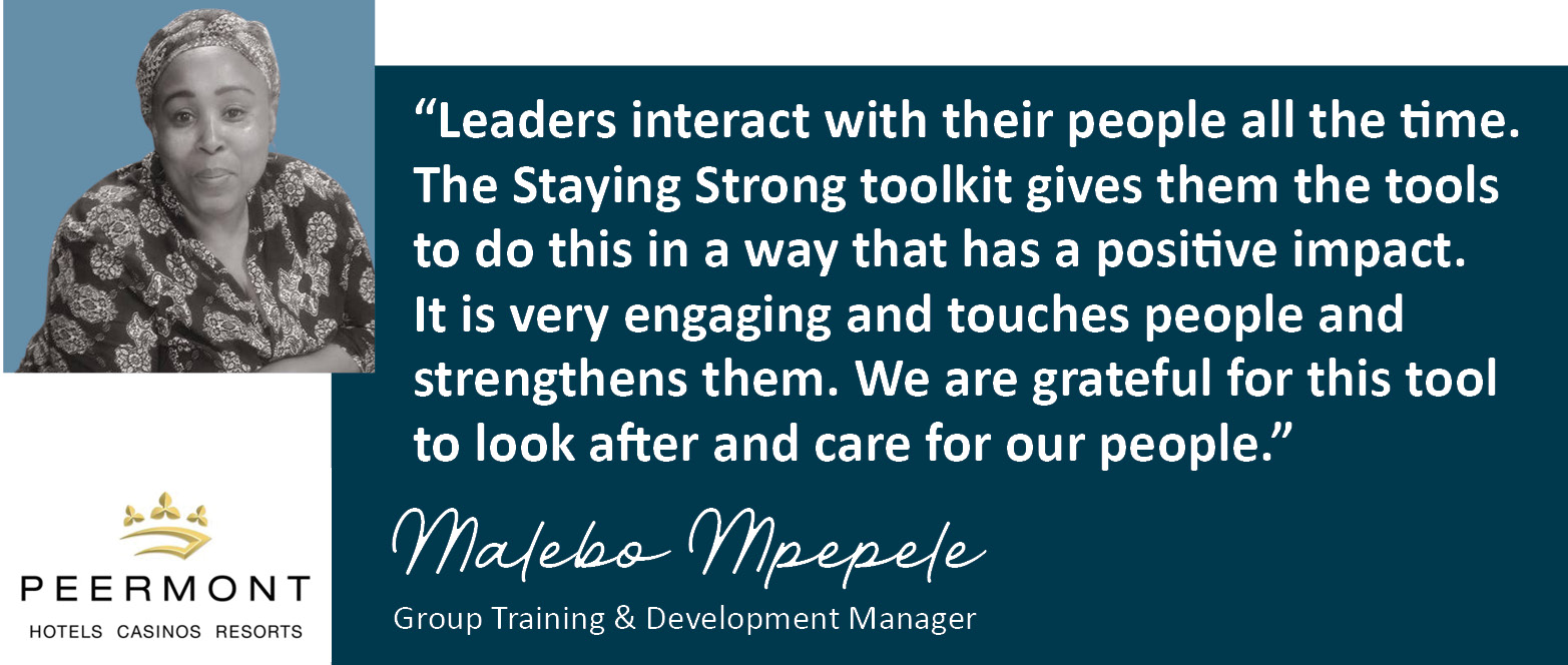 Malebo Mpepele of the Peermont Group on Staying Strong